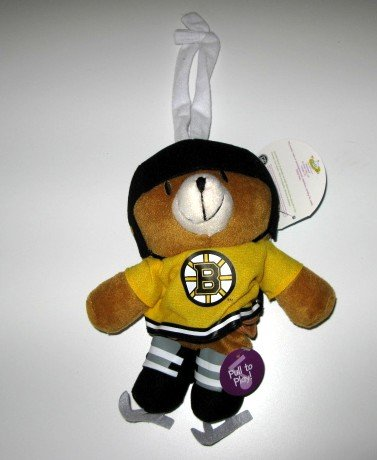 Boston Bruins Musical Pull Down Bear Baby Toy