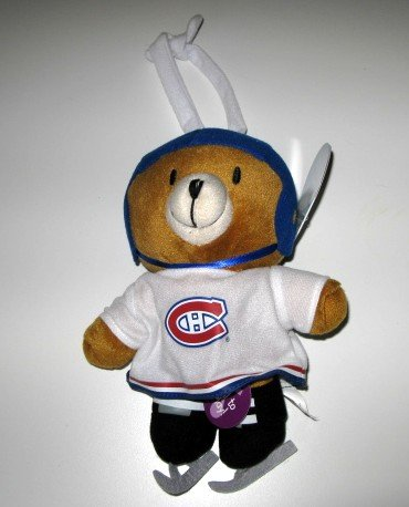 Montreal Canadiens Musical Pull Down Plush Bear Baby Toy Gift