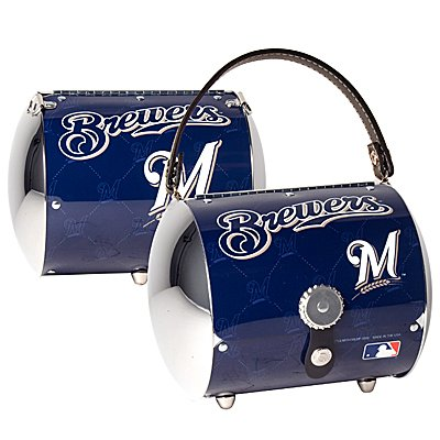 Milwaukee Brewers Littlearth Super Cyclone License Plate Purse Bag Gift