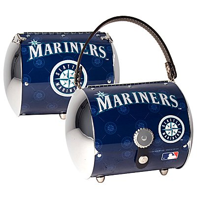 Seattle Mariners Littlearth Super Cyclone License Plate Purse Bag Gift