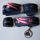Columbus Blue Jackets Pet Dog Leash Set Collar ID Tag Gift Size Large
