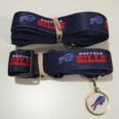 Buffalo Bills Pet Set Dog Leash Collar ID Tag Small