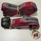 Tampa Bay Buccaneers Pet Dog Leash Set Collar ID Tag Gift Size Large