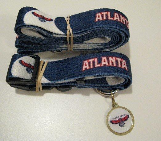 Atlanta Hawks Pet Dog Leash Set Collar ID Tag Gift Size Large