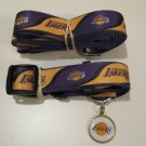 Los Angeles Lakers Pet Dog Leash Set Collar ID Tag Medium
