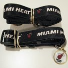 Miami Heat Pet Dog Leash Set Collar ID Tag Large