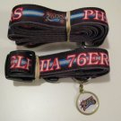 Philadelphia 76ers Pet Dog Leash Set Collar ID Tag Gift Size Large