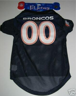 Denver Broncos Pet Dog Football Jersey Gift Large