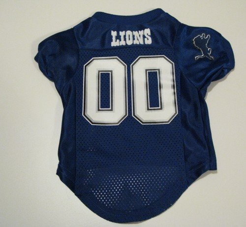 Detroit Lions Pet Dog Football Jersey Premium Gift Small