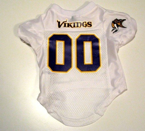 Minnesota Vikings Pet Dog Football Jersey Size Large
