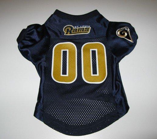 St. Louis Rams Pet Dog Football Jersey Premium Medium