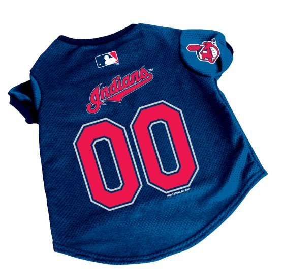 Cleveland Indians Pet Dog Baseball Jersey Gift Large