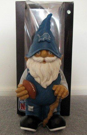 Detroit Lions Football Garden Gnome Figure Indoor/Outdoor Gift