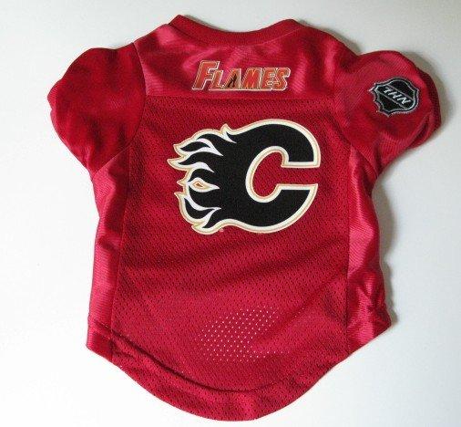Calgary Flames Pet Dog Hockey Jersey Size Small