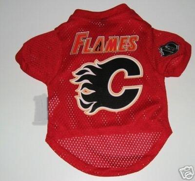 Calgary Flames Pet Dog Hockey Jersey Gift Size Large