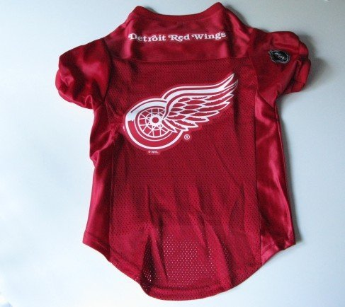 Detroit Red Wings Pet Dog Hockey Jersey Premium Small Gift