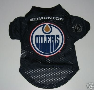 Edmonton Oilers Pet Dog Hockey Jersey Gift Size Large