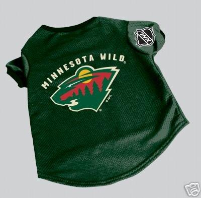 Minnesota Wild Pet Dog Hockey Jersey Gift Size Large