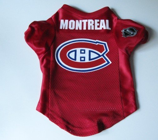 Montreal Canadiens Pet Dog Hockey Jersey Premium Small