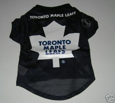 Toronto Maple Leafs Pet Dog Hockey Jersey Gift Size Large