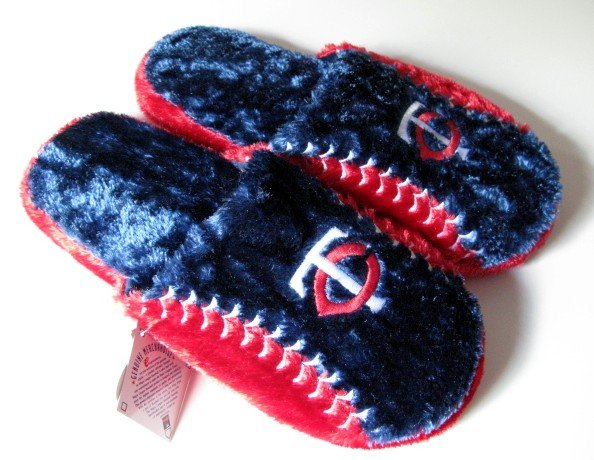 Minnesota Twins Ball Slide Slippers Gift Large