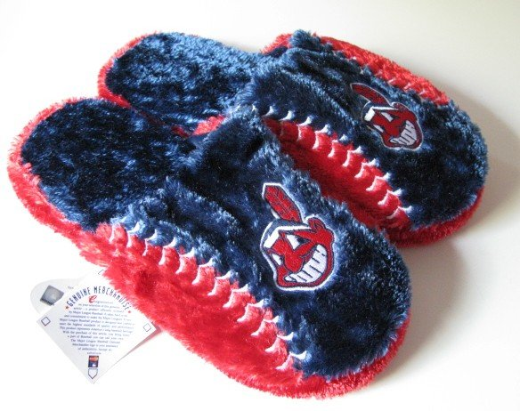 Cleveland Indians Ball Slide Slippers Gift Large