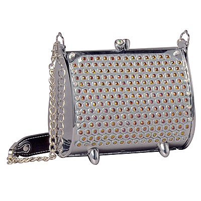 Littlearth Hexacomb Fender Flairette Purse Bag Swarovski Crystals