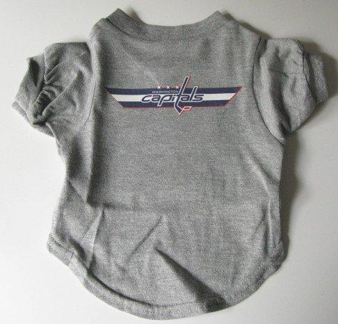Washington Capitals Pet Dog T-Shirt Gray Medium Gift