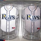 Tampa Bay Rays Home/Away Jersey Tumbler Glass Set 16 oz.