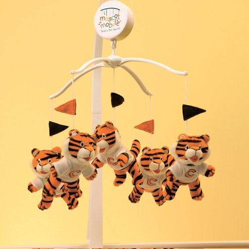 clemson university tigers musical mascot baby crib mobile. Black Bedroom Furniture Sets. Home Design Ideas
