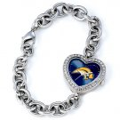 Buffalo Sabres Game Time Stainless Steel Rhinestone Ladies Heart Watch