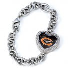 Chicago Bears Game Time Stainless Steel Rhinestone Ladies Heart Watch