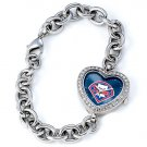 Philadelphia Phillies Game Time Stainless Steel Rhinestone Ladies Heart Watch