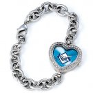 Tampa Bay Rays Game Time Stainless Steel Rhinestone Ladies Heart Watch