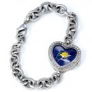 Indiana Pacers Game Time Stainless Steel Rhinestone Ladies Heart Watch