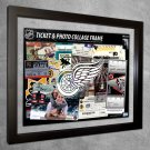 Detroit Red Wings Floating Photo and Ticket Collage Frame