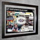 Montreal Canadiens Floating Photo and Ticket Collage Frame