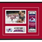 Colorado Avalanche My First Game Hockey Ticket Photo Frame