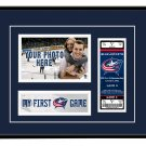 Columbus Blue Jackets My First Game Hockey Ticket Photo Frame