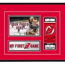 New Jersey Devils My First Game Hockey Ticket Photo Frame