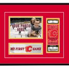 Calgary Flames My First Game Hockey Ticket Photo Frame