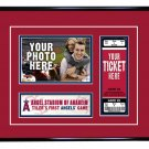 Los Angeles Angels Personalized My First Game Baseball Ticket Photo Frame