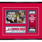 Atlanta Braves Personalized My First Game Baseball Ticket Photo Frame