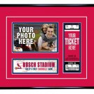 St. Louis Cardinals Personalized My First Game Baseball Ticket Photo Frame