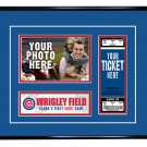 Chicago Cubs Personalized My First Game Baseball Ticket Photo Frame