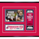 Cleveland Indians Personalized My First Game Baseball Ticket Photo Frame