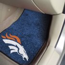 Denver Broncos Carpet Car Mats Set