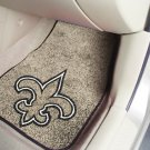 New Orleans Saints Carpet Car Mats Set