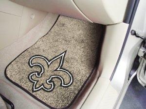 New Orleans Saints Carpet Car Mats Set
