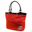 Carolina Hurricanes Littlearth Quilted Tote Bag Purse